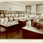 Household Arts class in cooking, 1912