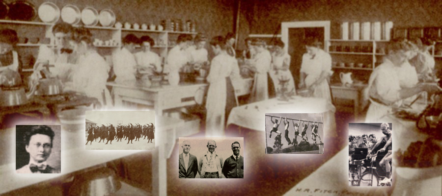 collage of the school's history