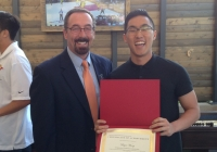 Dr. Mahar and Bryce Wong - 2018 CHHS Outstanding Undergraduate Student