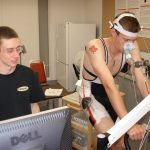 students in exercise lab