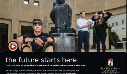 ENS students featured in ad
