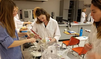 Students in Nutrition Lab