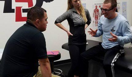 talking in clinic