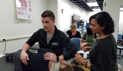demonstrating chiropractic