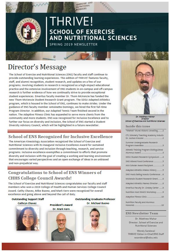 ENS Newsletter