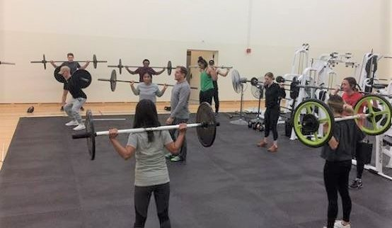 Students Training with weights