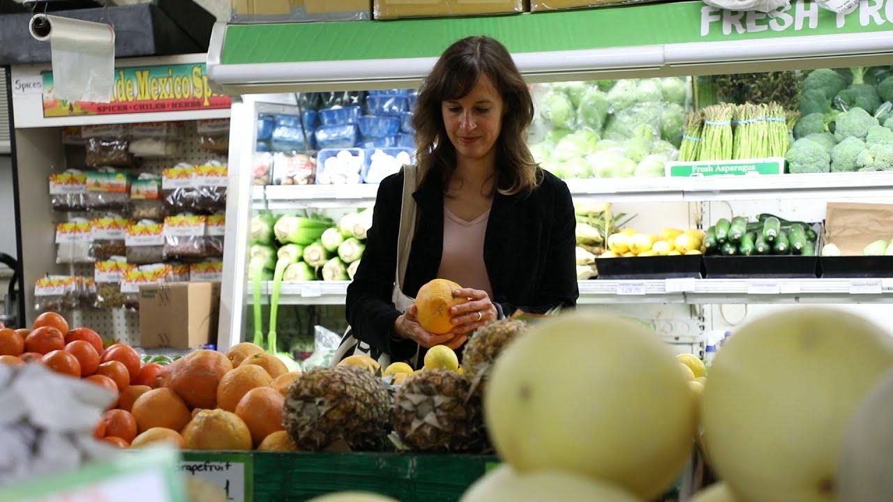 Amanda McClain at the supermarket
