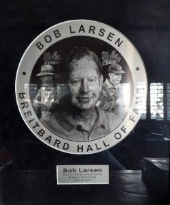 Bob Larson Breitbard Hall of Fame plaque