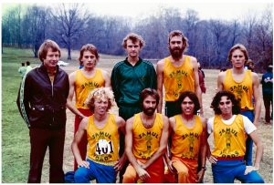 Coach Bob Larsen and Jamul Toads in Philadelphia 1976 with team