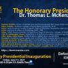 Dr. Thomas L. McKenzie awarded Honorary Lifetime President by the Internati...