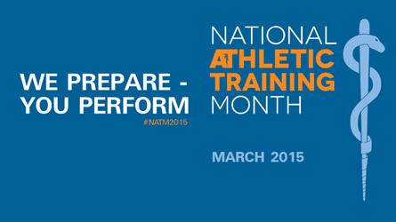 March is National Athletic Training Month!